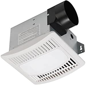 Hoover 7122-01 4 Sones 50 CFM Bath Exhaust Fan with Light, White Finish