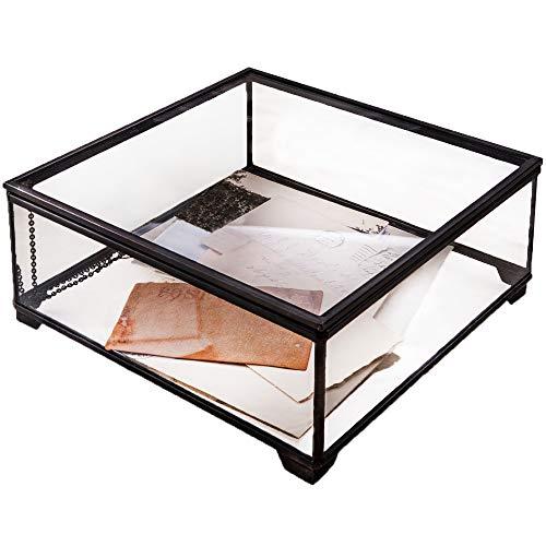 J Devlin Box 747 Clear Glass Display Box Holiday Home Decor or Wedding Keepsake