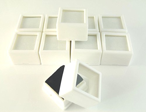 Generic YH-US3-160519-341 8yh3424yh ay beads/coin Glass Top /jar storag 10 PC 1-1/16x3/4'' 10 PC 1-1 Gem Box/jar UARE Glas WHITE SQUARE x3/4'' WHI storage/display beads/coin by Generic