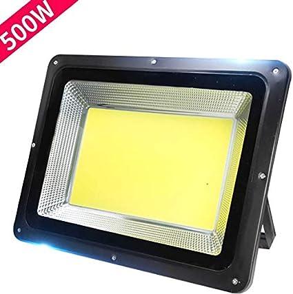 Proyector LED de 500 W COB y 7000 lúmenes, luz de seguridad para ...