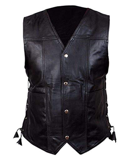 TLE Men's Walking Dead Governor Daryl Dixon Angel Wings Real Leather Vest (XS) Black]()