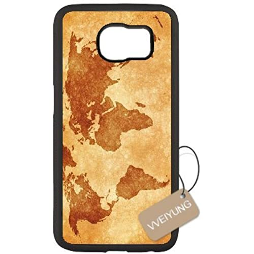 Diy Customized Cell Phone Case for Vintage World Map Black Samsung Galaxy s7 Hard Back Cover Shell Phone Case (Fit: Samsung Galaxy s7) Sales