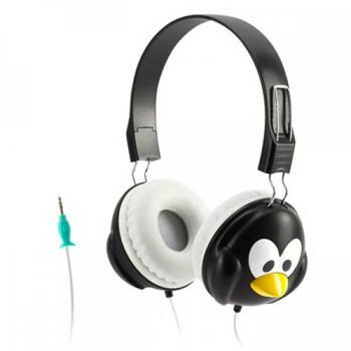 Griffin Penguin KaZoo MyPhones Kids Volume-Limiting Headphones - Fun Animal Headphones for Kids