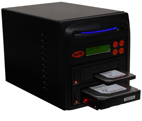 "Systor Systems 1:1 SATA 2.5"" & 3.5"" Dual Port/Hot Swap Hard Disk Drive / Solid State Drive (HDD/SSD) Clone Duplicator/Sanitizer (150MB/s) 3.5 inches SYS201HS-DP"