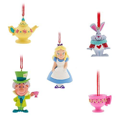 Disney Alice in Wonderland Sketchbook Mini Ornament Set