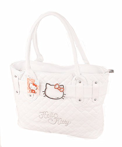 Hello Kitty Quilted Fauxレザーショッピングバッグハンドバッグトート財布Baby ホワイト B06XXHWJCM ホワイト