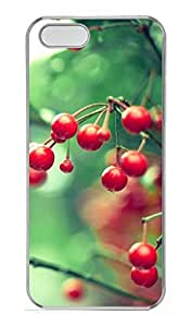 Cherry Tree Customized Popular DIY Hard Back Case Cover For iPhone 5 5S Hard Transparent
