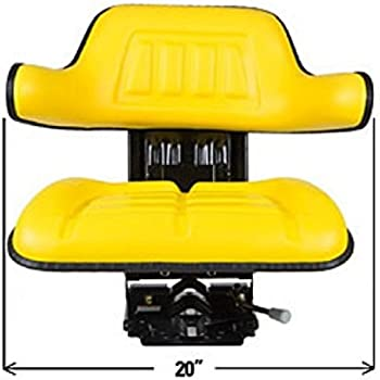 TS1040ATSP New John Deere Tractor Yellow Waffle Seat slide track adjustable base