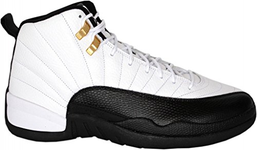 Air 12 Retro Kids Black/White Taxi Basketball Shoes(Little Kids Gig Kids) (Taxi Equipment)
