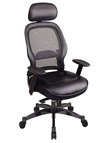 space-seating-breathable-mesh-black-back-and-leather-seat-2-to-1-synchro-tilt-control-adjustable-arm