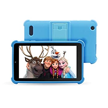 Venturer Small Surprise 7″ Android Youngsters Pill with Disney Books, Bumper Case & Google Play, 16GB Storage & 2GB RAM Twin Band 5GHz/2.4GHz WiFi (Blue)