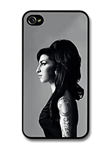 Amy Winehouse Black and White Posh Profile Portrait case for iPhone 4 4S