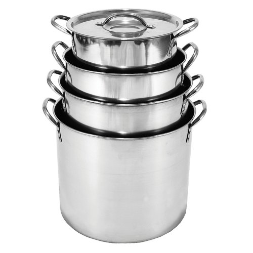 Heuck 36003 4 Piece Stainless Steel Stock Pot Set