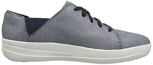 fitflop Houndstooth Navy Sneaker Print F Fashion Lace Women's up Midnight Sporty Pwxrq6PpH