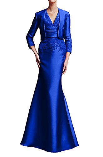 Wassermelon Royal Festliche Partykleider Elegant Blau La Langarm Marie Abendkleider Braut Brautmutter Lang Kleider qCxAERA