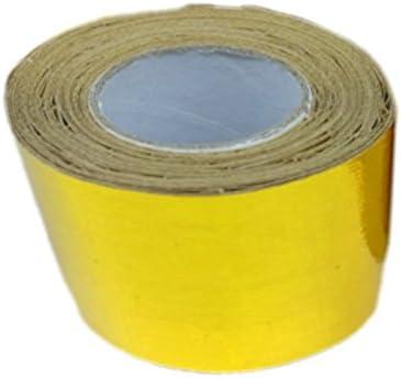 Nastro adesivo avvolgente riflettente adesivo ad isolamento termico in alluminio dorato 1pz