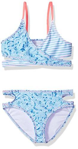 (Jantzen Big Little Girls NEO Nautical Bikini, Maze Print, 7)