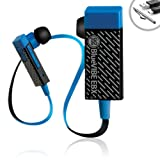 GOgroove BlueVIBE EBX Bluetooth 3.0 Fitness Earbuds Stereo Headset with Handsfree Microphone , Rechargeable Battery and Optional Earhooks for Samsung Galaxy Note / Google New Nexus 7 FHD and More