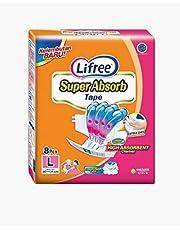 Lifree Super Absorb Adult Tape Diaper L8, 8 count