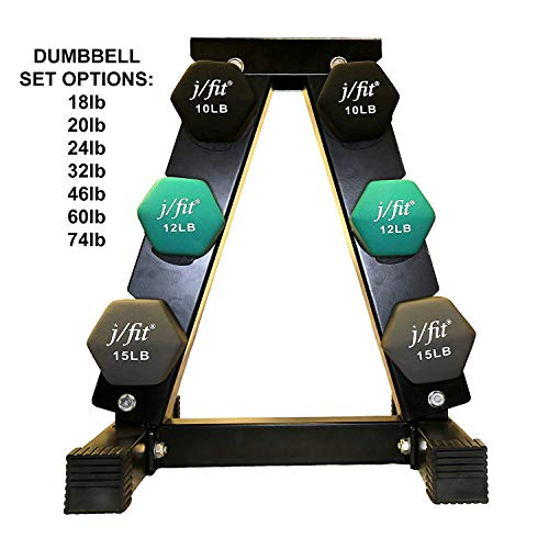 j/fit Dumbbell Set w/Durable Rac...
