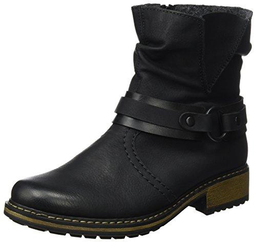 schwarz Femme schwarz Z6881 Noir Rieker Bottes EI6qA