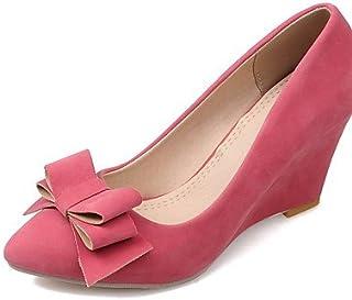 GGX/ Chaussures Femme-Bureau & Travail / Décontracté-Noir / Bleu / Rose / Rouge / Amande-Talon Compensé-Compensées / Bout Pointu-Chaussures à almond-us10.5 / eu42 / uk8.5 / cn43 MNJMK