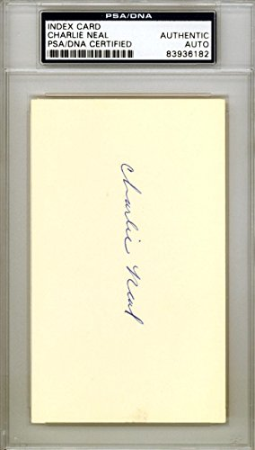 Charlie Neal Autographed Signed 3x5 Index Card New York Mets #83936182 PSA/DNA Certified MLB Cut Signatures