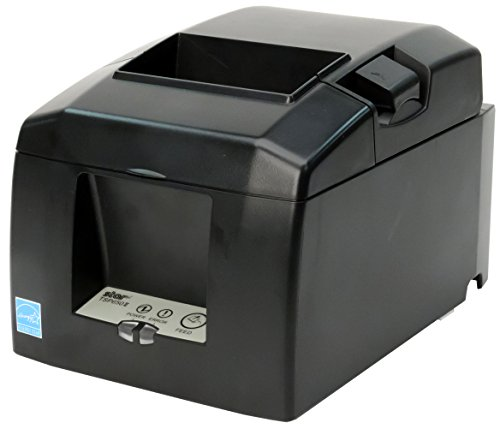 Star Micronics TSP654IIU USB Thermal Receipt Printer with Auto-Cutter and External Power Supply - Gray