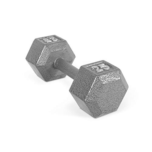 CAP Barbell Solid Hex Dumbbell, Single (25-Pound) - Import It All
