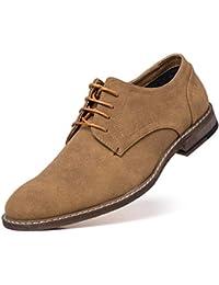 Men's Suede Oxford Dress Shoes Lace Up