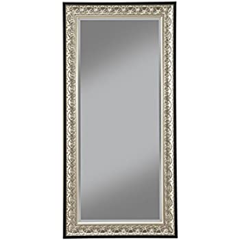 sandberg furniture 16011 full length leaner mirror frame antique silverblack - Mirror Frame