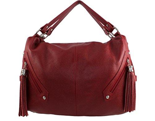 sac sac Plusieurs Rouge sac Sac a femme cuir Italie cuir sac pompy marque pompy à fashion cuir Foncé chloly main pompy cuir sac femme main cuir femme franche cuir Pompy Coloris CXwRq4X