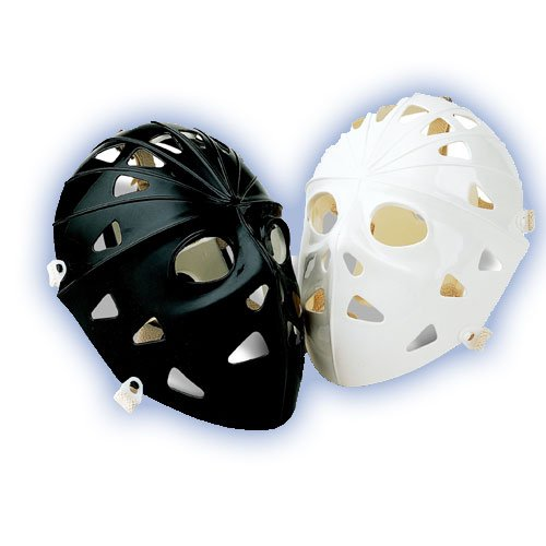 Black Hockey Mask (Mylec Pro Goalie Mask, Black)