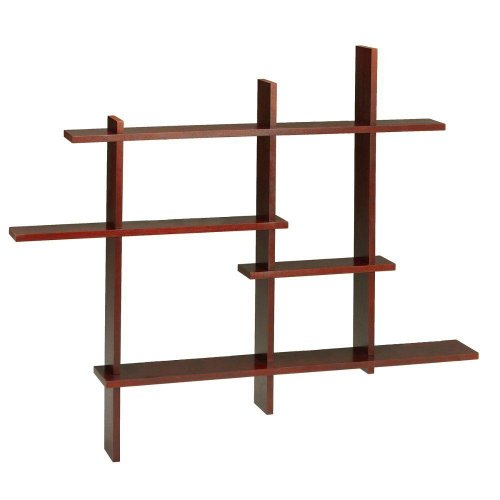 Standard Contemporary Display Shelf, STANDARD, DARK CHERRY