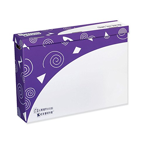Pacon Classroom Keepers Chart Size Storage Box, Purple & White, 23