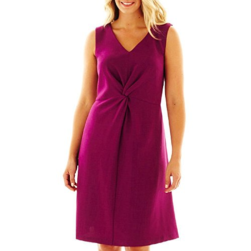 R&K Originals Sleeveless Twist-Front Dress Plus Size for sale  Delivered anywhere in USA