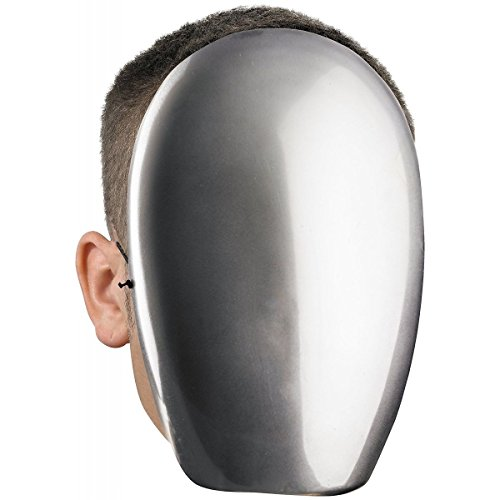No Face Chrome Mask Costume Accessory Adult Halloween (Rob Zombie No Halloween 3)