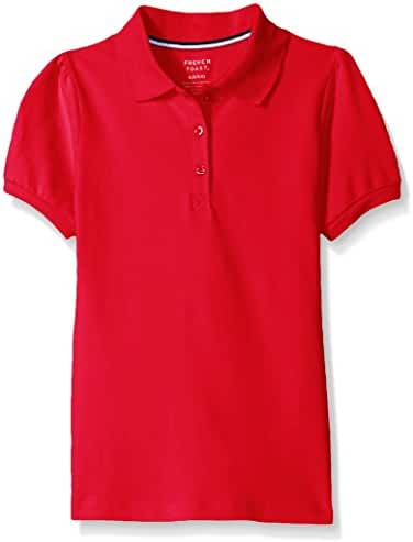French Toast Girls' Short Sleeve Stretch Pique Polo