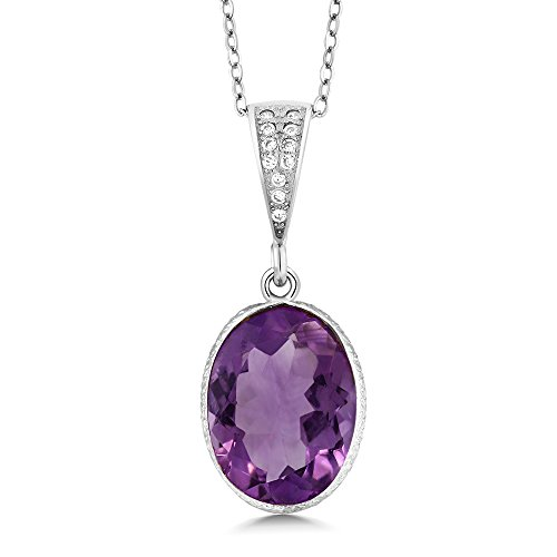 hyst 10x14 Oval Pendant 5.00 Carat with 18