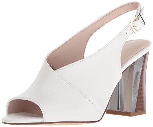 Nine West Women Morenzo Leather Heeled Sandal White