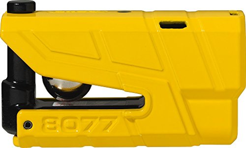 Abus Granit Detecto X-Plus 8077 Alarm Brake Disc Lock with 3D Position Detection, Security Level 18, Colour Yellow, 190025
