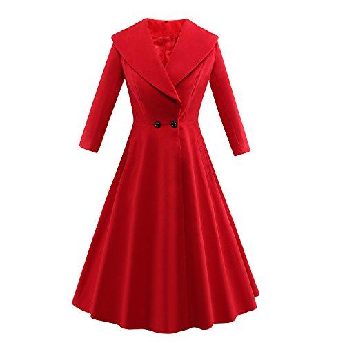 vintage pea coat - 1