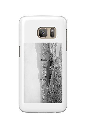 Springfield, OR Town View and Lumber Mills Photograph (Galaxy S7 Cell Phone Case, Slim Barely - Town Springfield