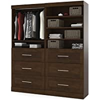 Bestar Furniture 26856-69 Pur 84 Tall Classic Kit with Simple Pulls and Three Adjustable Shelves in