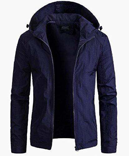 Windbreaker Outwear Men Plus Classic Hooded AS4 Jacket Full RkBaoye Size zip 780xA0d
