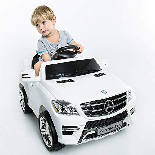 - Costzon White Mercedes Benz ML350 6V Electric Kids Ride On Car Licensed MP3 RC Remote Control