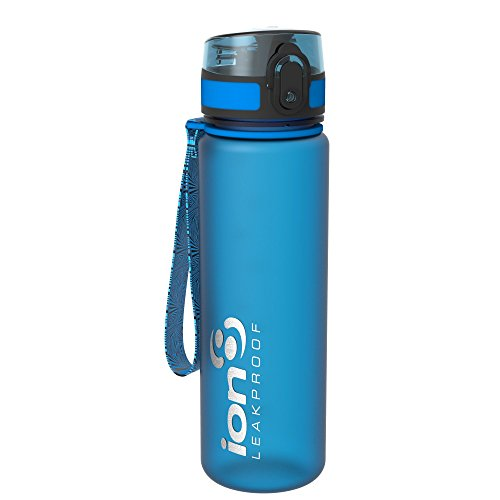 Ion8 Leak Proof Slim Water Bottle, Frosted Blue, 500 ml