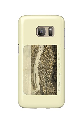 Port Huron  Michigan   Panoramic Map  Galaxy S7 Cell Phone Case  Slim Barely There