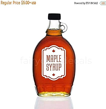 Amazon Com Pene Labor Day Sale Maple Syrup Bottle Label Vinyl Decal