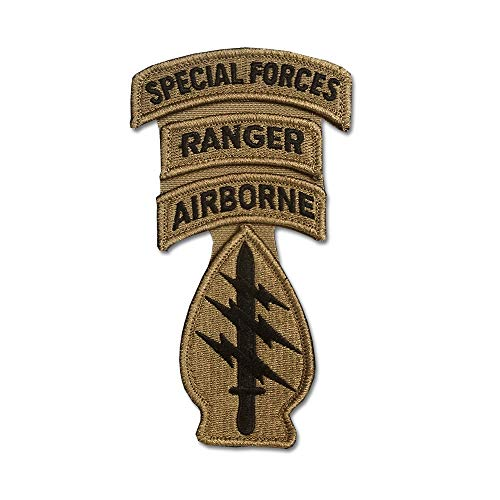- Special Forces OCP Patch with Airborne, Ranger, and Special Forces Tabs and Hook Fastener